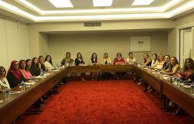 YTSO Kadın Girişimciler Kurulu tam kadro katilimi ile Ramada Otelde 12. Genel Kurul toplantısını gerçekleştirdi.