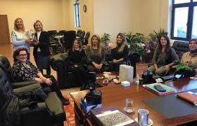 Yalova Kadın Girişimciler Kurulu ,Yalova Üniversitesi Rektörü Prof. Dr. Güler Alkan'ı makamında ziyaret etti.