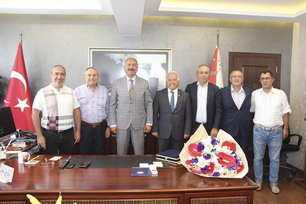 Yalova Emniyet Müdürü Göksel Topaloğlu ve Yalova Aile, Çalışma ve Sosyal Hizmetler İl Müdürü Arif Laçin'i ziyaretimiz