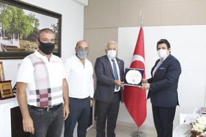 YTSO'dan İl Millî Eğitim Müdürü Dr. Abdülaziz Yeniyol'a hayırlı olsun ziyareti