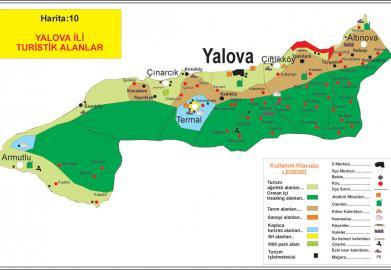 Yalova'da bulunan tüm turistik alanlar