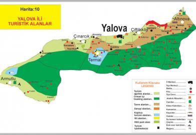 All touristic areas in Yalova