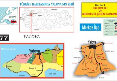 Yalova's place on the map of Turkey