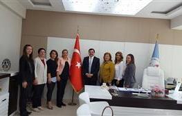 YTSO Kadin Girisimciler Kurulu icra komitesi olarak Il Milli egitim müdürümüz Şerafettin Turan beyi makamında ziyaret ettik